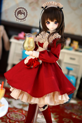 taobao agent 【Meow House】Sweet Capra cute uniform maid outfit 3 points DDSDD3M chest BJD baby clothes black box card