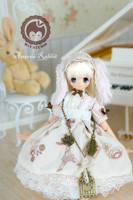 taobao agent 【Meow House】Miss lop-eared rabbit dress set azone/licca/ small cloth/blythe limited edition