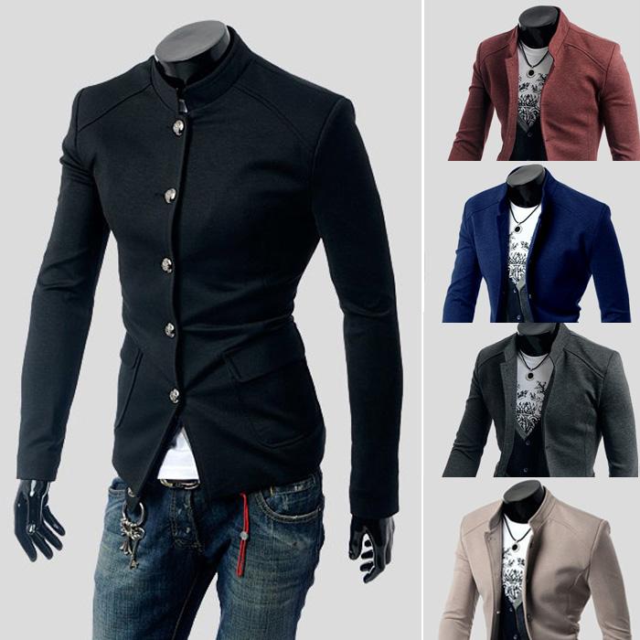 کت تک2016 عرضه کننده مد یقه کت و شلوارباریک رنگ جامد 771