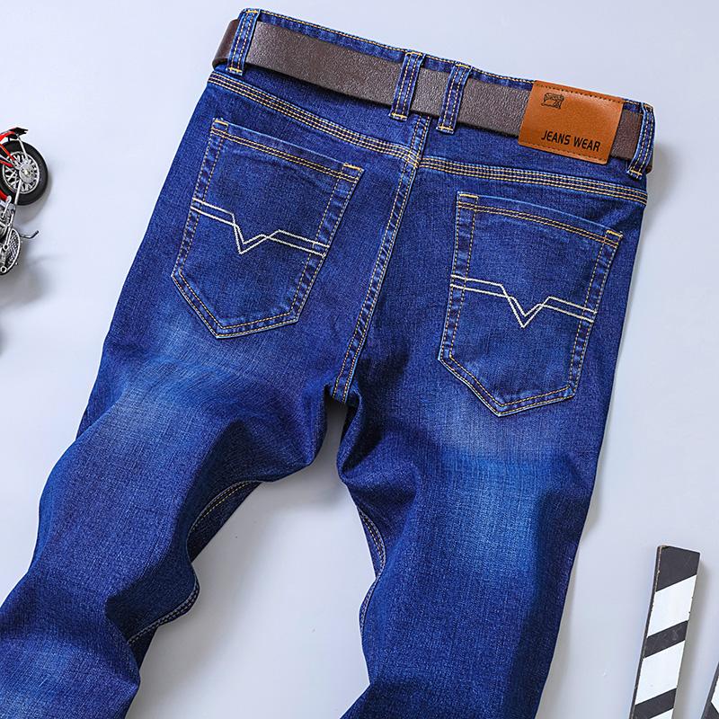 男士牛仔裤男直筒裤宽松商务长裤子休闲裤
