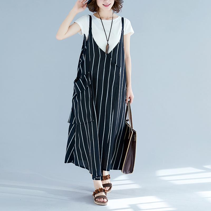 大码女装夏天套装女潮减龄遮肉时髦两件套胖mm吊带连衣裙显瘦洋气