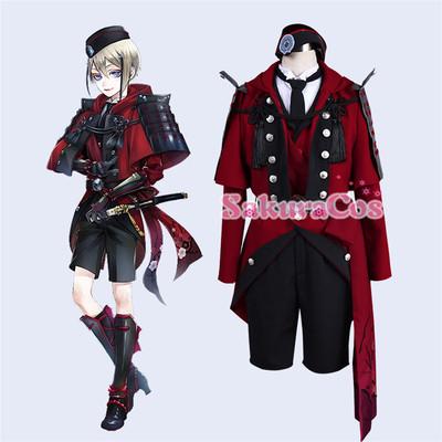 taobao agent Touken Ranbu Hyuga Masamune battle suit cosplay costume