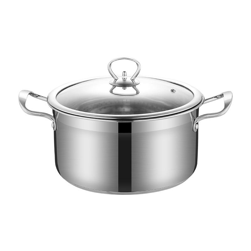 小蒸锅304不锈钢三层加厚汤锅奶锅优惠价10元销量290件