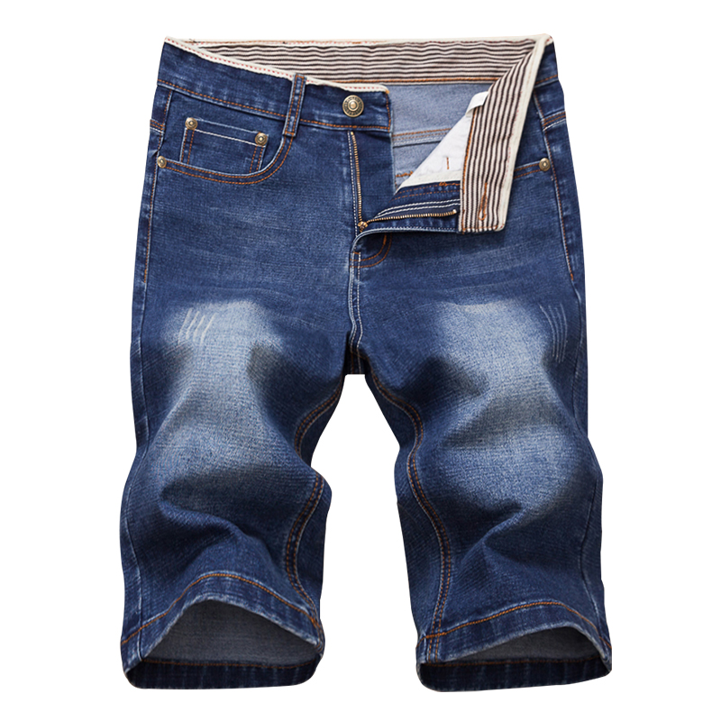 夏薄款牛仔裤男士牛仔短裤男中裤弹力韩版五分裤潮男裤马裤七分裤