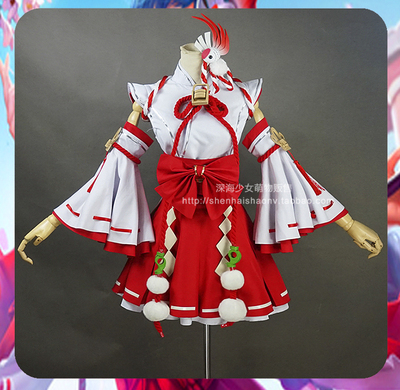 taobao agent sold out】King of Glory Ise Miko Da Qiao cosplay costume headwear accessories full package