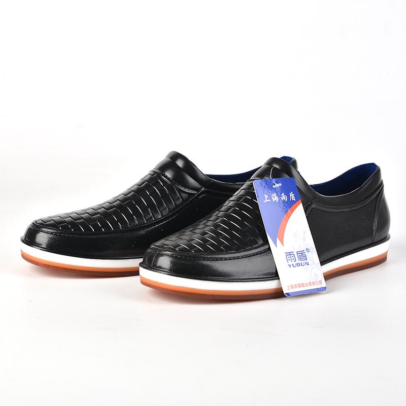 Mưa khởi động của nam giới thời trang ống ngắn giày nước gân dưới không trượt chịu mài mòn axit và kiềm không thấm nước nhà bếp giày làm việc thấp để giúp mưa khởi động