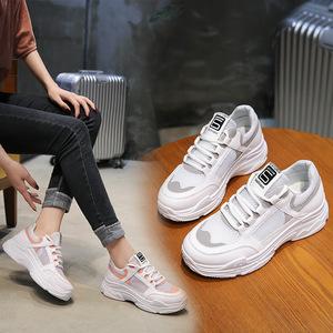 春季女鞋透气运动鞋休闲韩版原宿跑步鞋