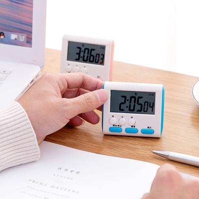 创意简约闹钟 学生用按键计时器 提醒器起床小闹钟厨房计时器烘焙