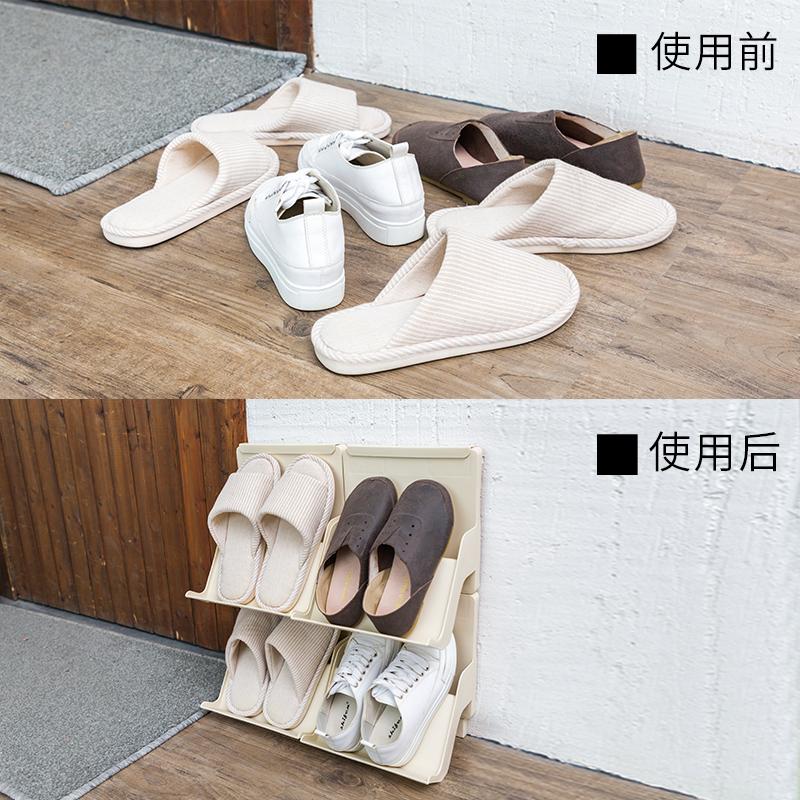 聚可爱 简易鞋架可叠加多层鞋子收纳架塑料鞋托宿舍鞋子收纳神器