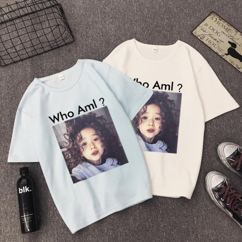 Quần áo mới phụ nữ 2017 mùa hè của phụ nữ ngắn tay T-Shirt sinh viên t-shirt triều hoang dã thời trang mùa hè T đẫm máu trục ngắn