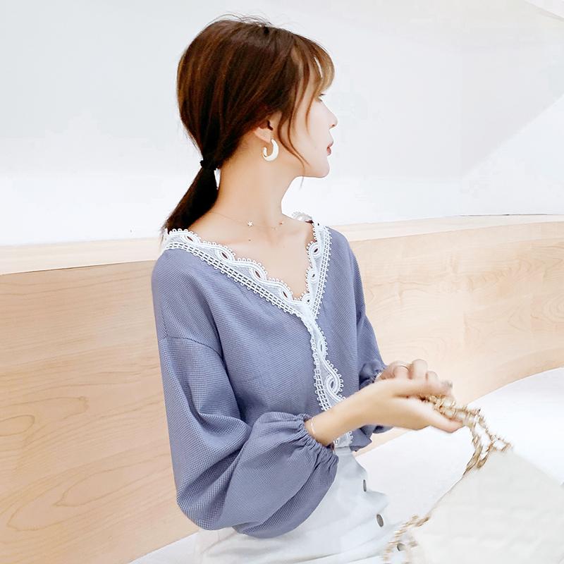 春秋款雪纺衬衫秋装女装年新款潮流时尚夏季长袖上衣薄款洋气