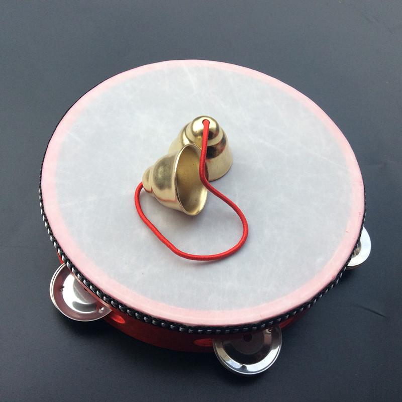 铃鼓小铃铛北京舞蹈学院考级道具艺考二花式手娟小碰铃手抓包