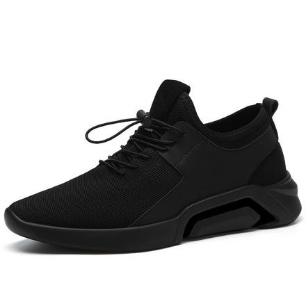 2020新款男士新款加绒男学生运动鞋百搭时尚潮跑步网布休闲鞋