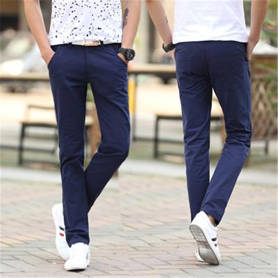 Mùa xuân và mùa hè nam quần âu thanh niên Hàn Quốc phiên bản của các chân mỏng quần nam quần thể thao lỏng lẻo quần thẳng quần thủy triều quần