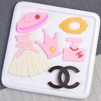 裙子香水瓶帽子镜子造型蛋糕硅胶模具