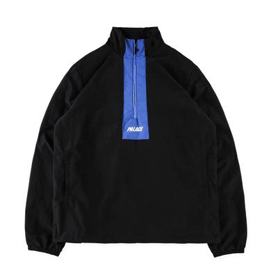 PALACE 17FW khâu nửa dây kéo áo khoác triều thương hiệu đầu cao cổ áo áo gió áo khoác nam giới và phụ nữ Áo gió