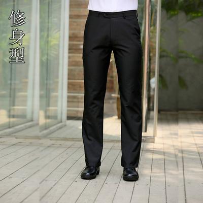 Mùa hè phần mỏng kinh doanh ăn mặc để làm việc quần nam mỏng thẳng lỏng phù hợp với quần của nam giới phù hợp với quần đen
