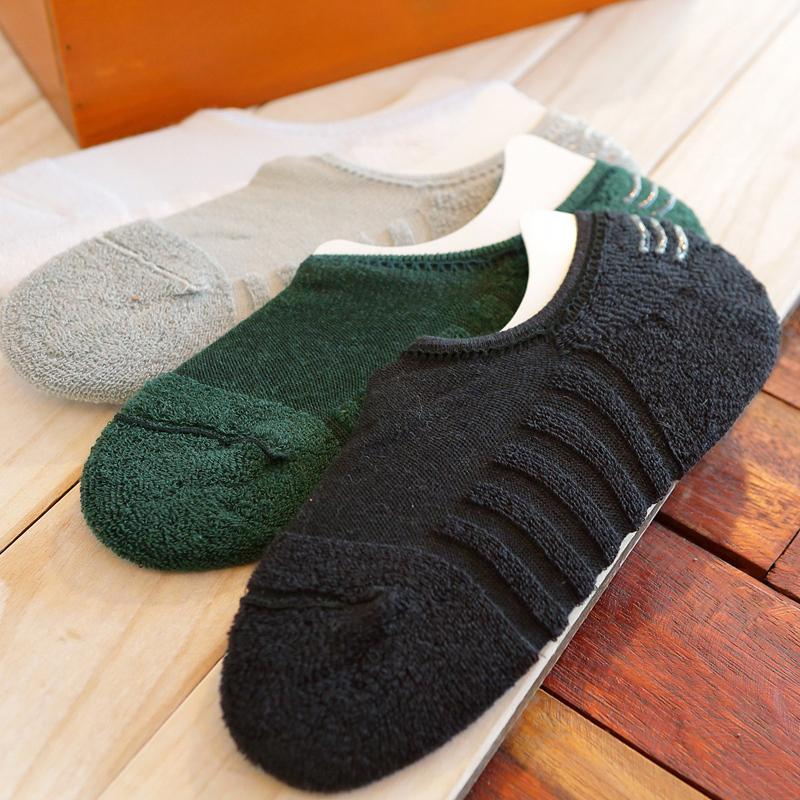 高品质 夏季潮男百搭单品 全棉隐形袜男士浅口船袜防滑不露袜短袜
