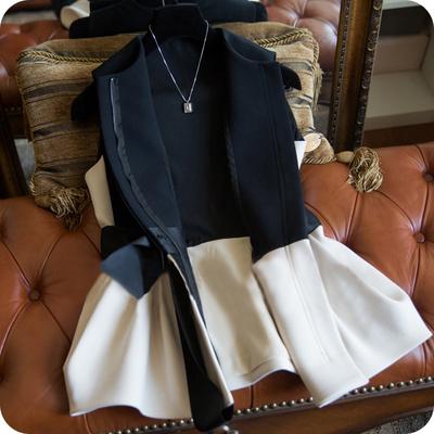 秋装新款收腰小香风蝴蝶结马夹欧货西装无袖马甲外套女士外穿