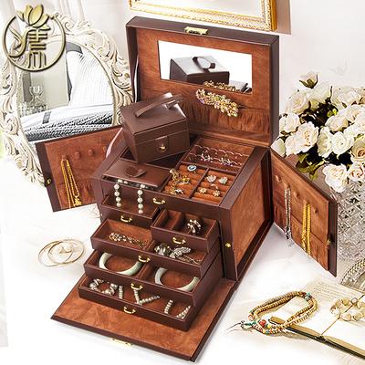 新款木质欧式首饰盒带锁