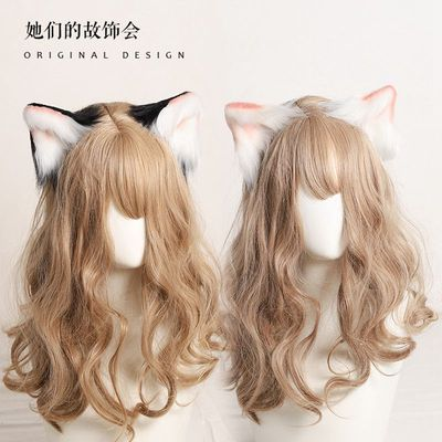 taobao agent Hand-made animal ear headdress hairpin cat ear hairpin hairpin hair accessories LOLITA handmade plush side clip girl cute Japanese