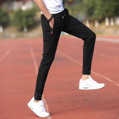 Mở rộng phiên bản 120 cm thể thao ngoài trời quần âu trai chân quần Slim 115 cm chín quần nam quần mùa hè phần mỏng