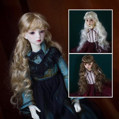 taobao agent 【DollyPlanet】BJD 1/3 1/4 imitation mohair wig classical wave big volume QQ-73