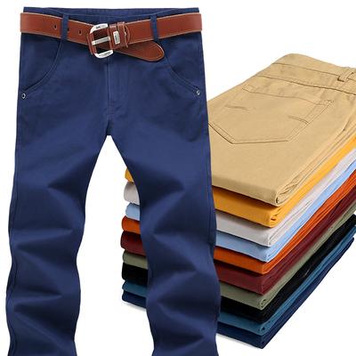 Quần âu nam giới mặc nam giá rẻ của quần dài lao động bảo hiểm công việc dụng cụ nam quần lỏng mùa hè sinh viên Quần làm việc