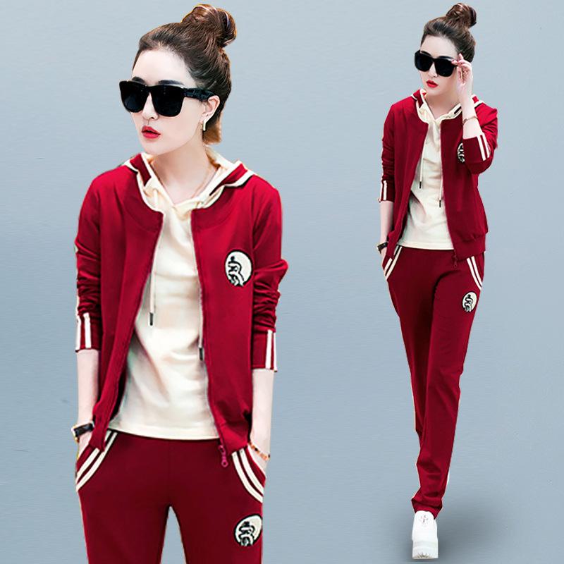 三件套女韩版时尚大码运动套装