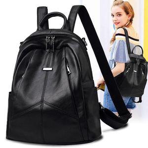 2020新款女双肩包潮流韩版百搭时尚旅行软皮包女士包包书包背包女