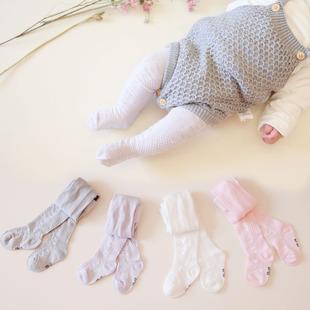 婴儿连裤袜子纯棉儿童连袜裤女童