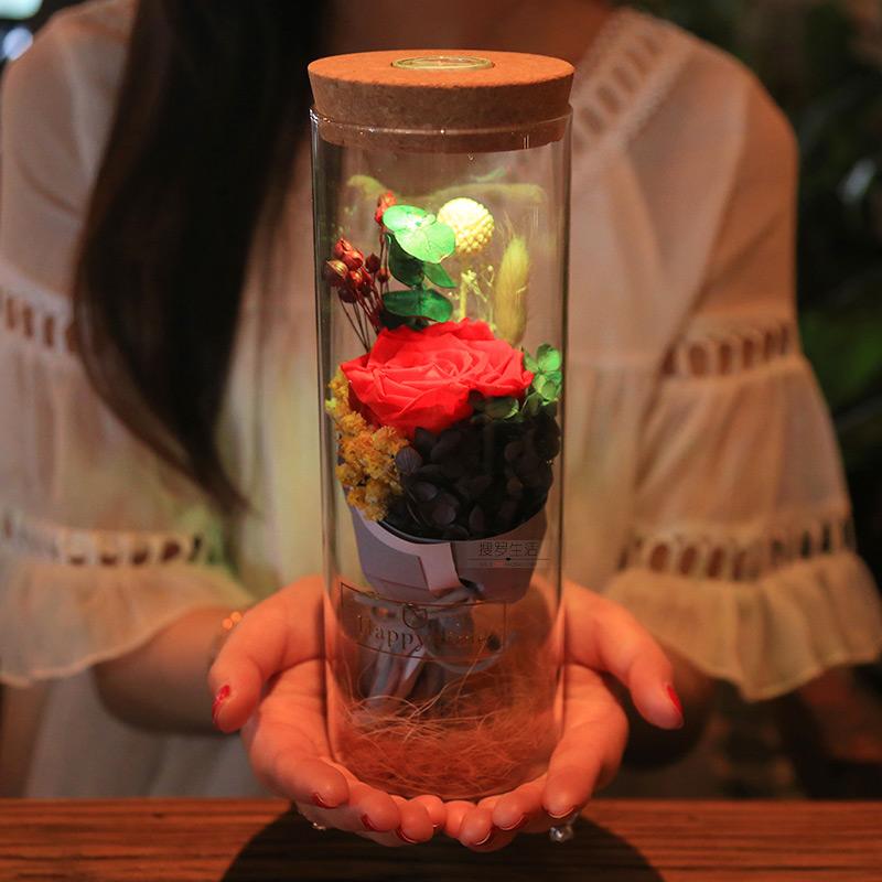 创意永生花情人节礼物,女友送礼就是它