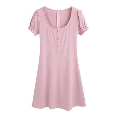 Clara tùy chỉnh khía cạnh trưởng thành 2018 cô gái mùa xuân đáng yêu của các đơn ngực Puff tay áo đầm