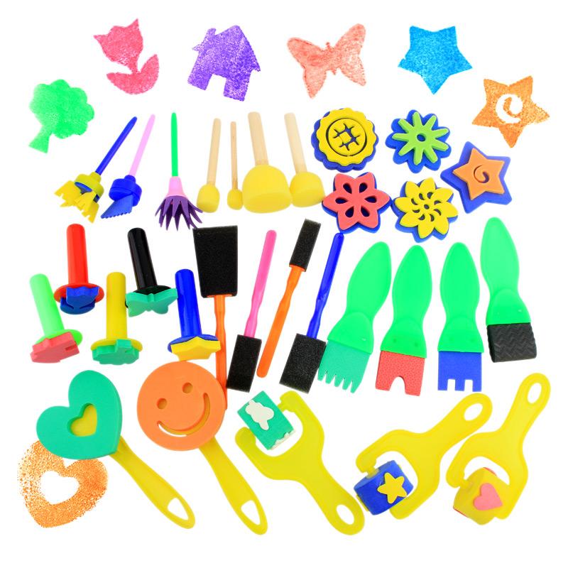 Trẻ em mẫu giáo của nguồn cung cấp bức tranh con lăn bàn chải bàn chải xốp bàn chải EVA bọt cọ xát đồ chơi graffiti
