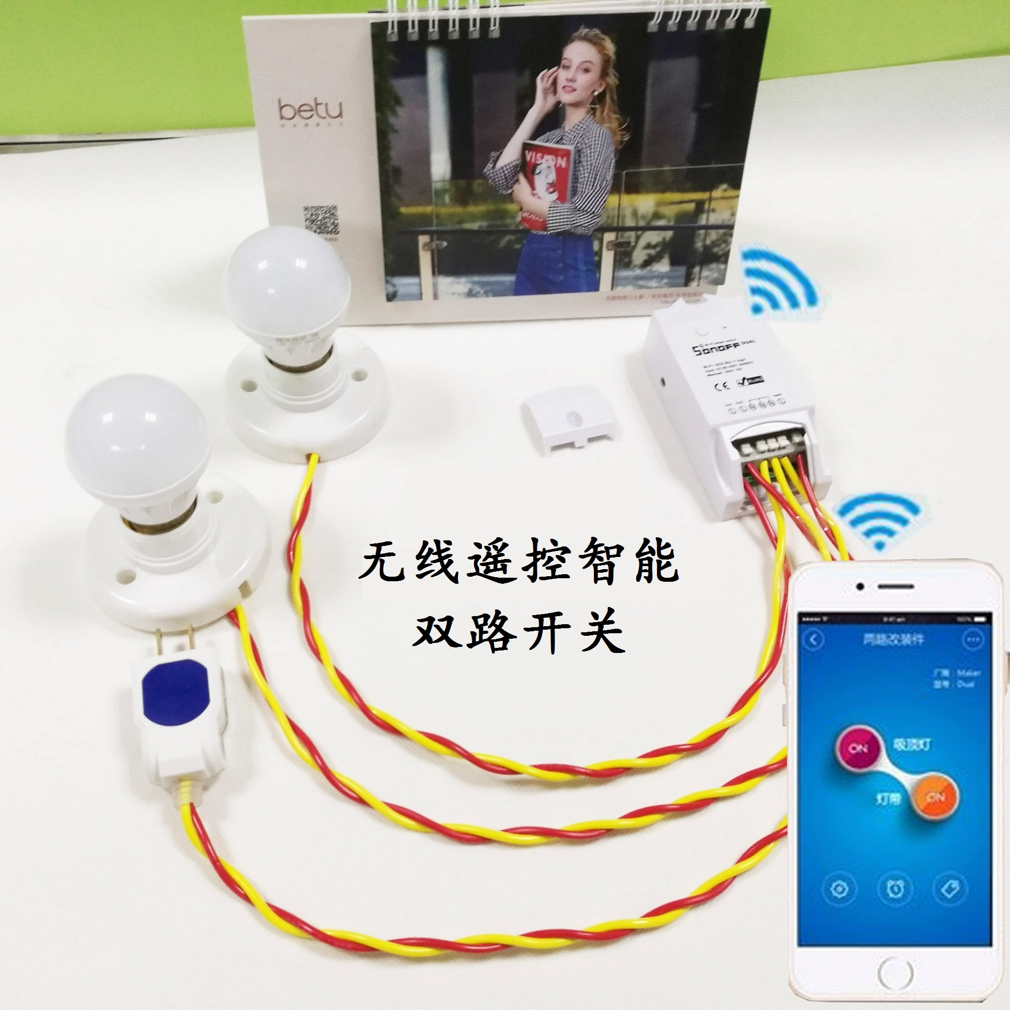 cheap Purchase china agnet Sonoff dual smart home mobile APP double