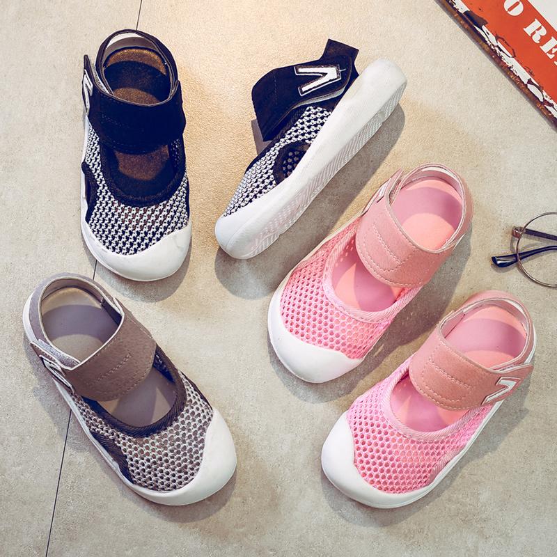 宝宝包头凉鞋男儿童软底防滑凉鞋2018新款韩版夏季小童男童沙滩鞋