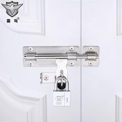 雷鸟不锈钢明插销门栓门插销防盗门窗户木门加厚插销锁4寸6寸