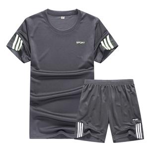 Mùa hè quần áo tập luyện của nam giới phù hợp với quần áo khô nhanh phòng tập thể dục đào tạo bóng rổ quần áo chạy thể thao phù hợp với nam giới hai mảnh