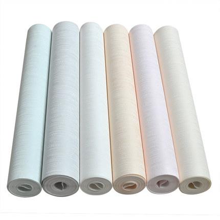 现代简约素色纯色竖条纹无纺布墙纸卧室客厅酒店宾馆欧式工程壁纸