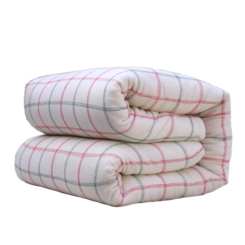 定做手工新疆棉花被芯 纯棉被秋冬被子长绒棉胎絮幼儿园垫被