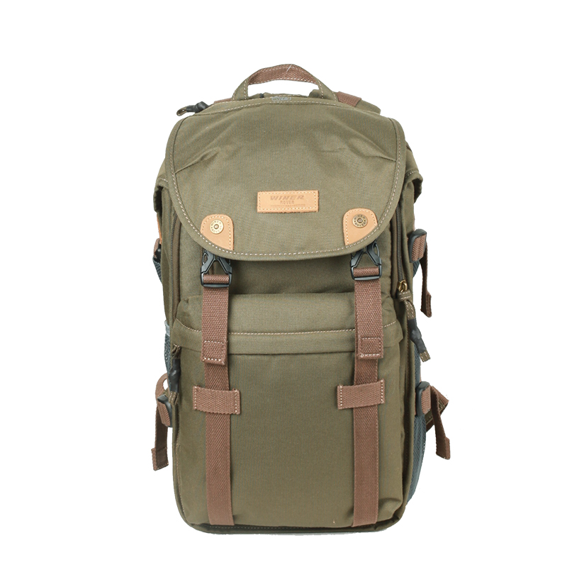 WINER摄影包双肩专业单反相机包大容量防盗防水旅行帆布摄影背包