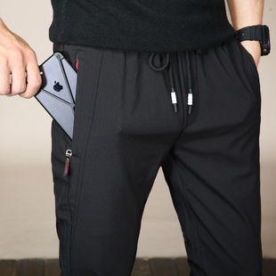 休闲裤男春夏季冰丝薄款潮流长裤运动裤