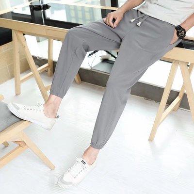 Mùa hè của nam giới linen quần âu Hàn Quốc phiên bản của xu hướng của tự trồng chân 9 điểm quần feet cotton và linen chín quần quần nam Crop Jeans