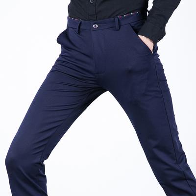 Quần âu nam thẳng đen căng công việc kinh doanh của nam giới quần mùa hè băng lụa quần siêu mỏng quần triều Quần