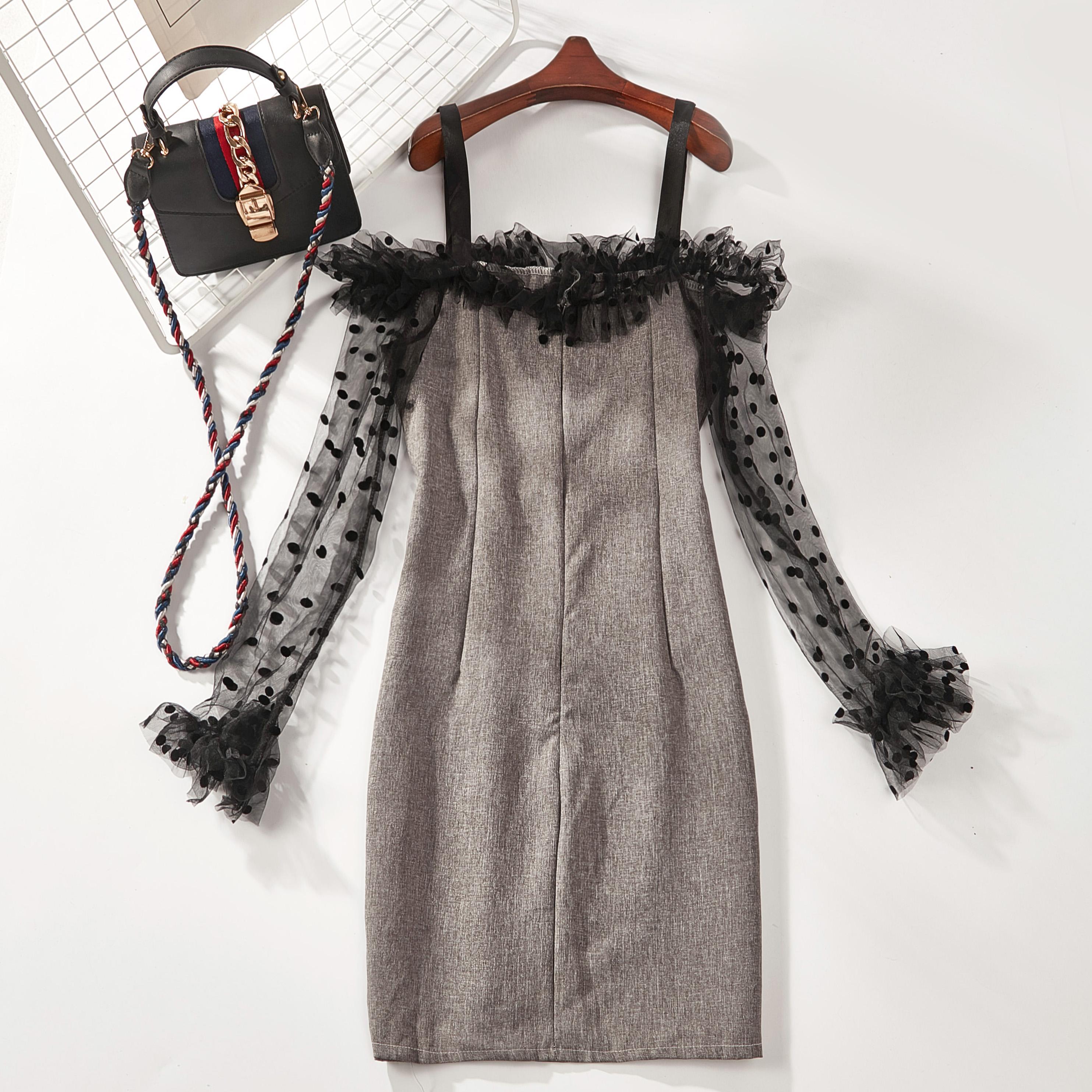 B37 thời trang mới dot váy của phụ nữ 7710