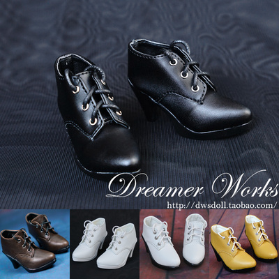 taobao agent BJD SD 3 points 4 points doll shoes pointed toe strap high heel ankle boots 1/4, 1/3 two colors