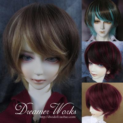 taobao agent DWS BJD/SD 3 points 4 points doll hair wig/high temperature silk HT-handsome short hair 1/3,1/4