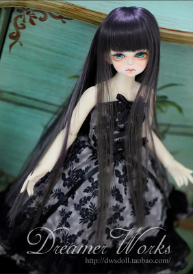taobao agent BJD/SD 4 points 3 points 6 points Doll clothes/baby clothes Off-the-shoulder dress Grey bottom and black leaves 1/6,1/4,1/3