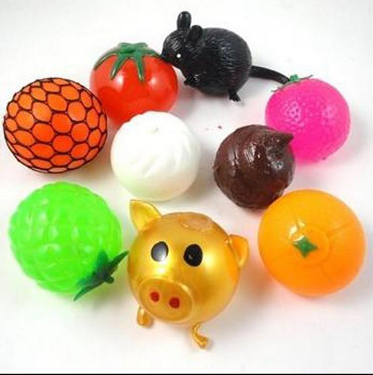 抖音同款玩具:发泄水球 金猪头减压玩具