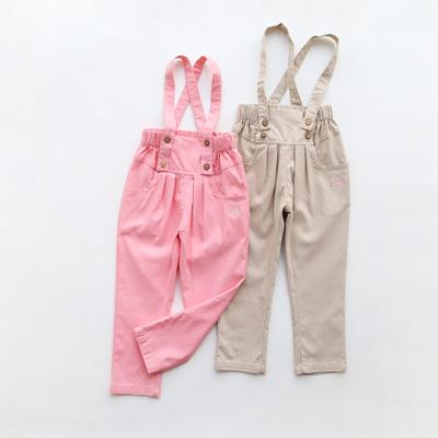 童装新款女童背带裤儿童休闲裤春秋宝宝背带长裤子